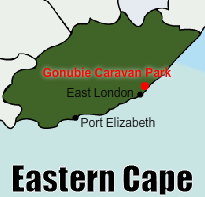Gonubie Holiday Resort - Wild Coast, Eastern Cape, Caravan Park, Camping, cottage, Chalet self-catering Accommodation - Location
